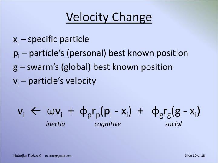Velocity Change