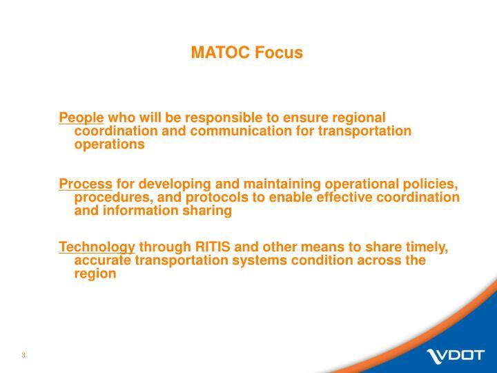 MATOC Focus