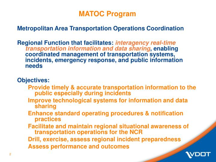 Matoc program