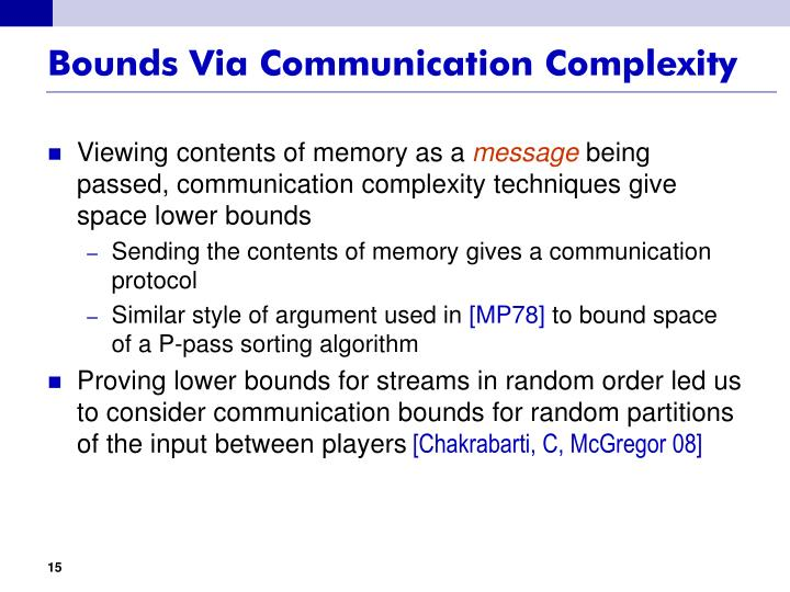 Bounds Via Communication Complexity