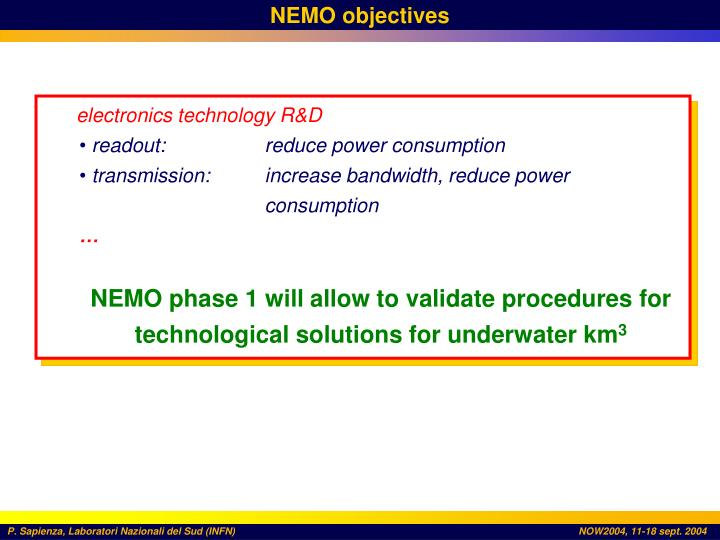 NEMO objectives