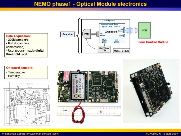 NEMO phase1 - Optical Module electronics