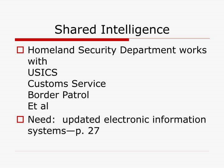 Shared Intelligence