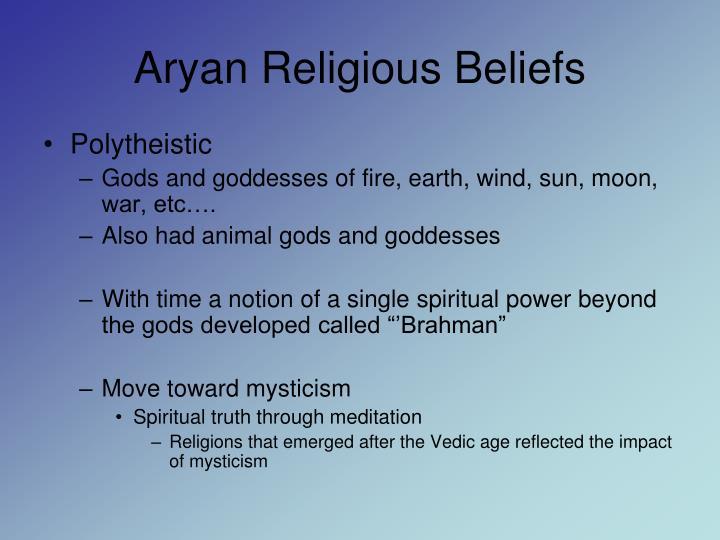 Aryan Religious Beliefs