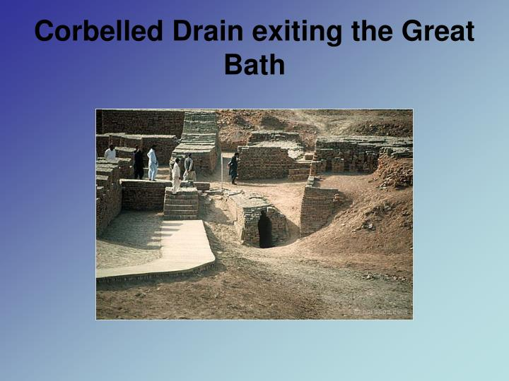 Corbelled Drain exiting the Great Bath