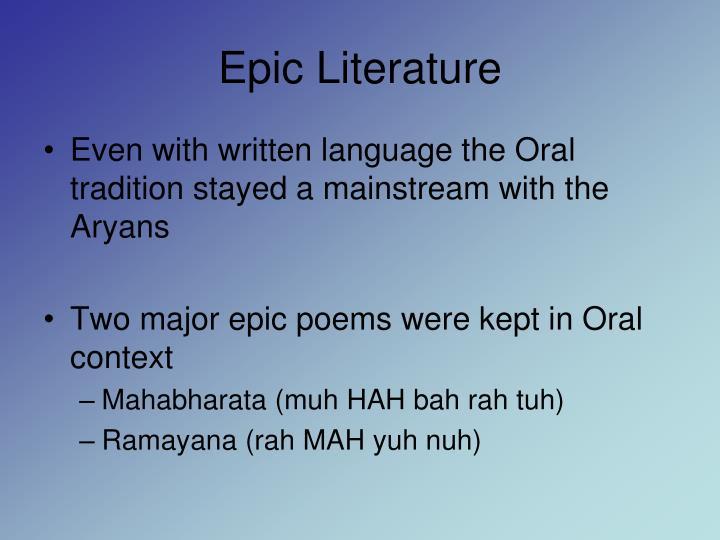 Epic Literature
