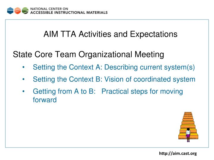 AIM TTA Activities and Expectations