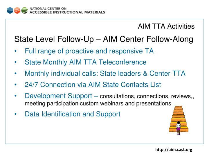 AIM TTA Activities