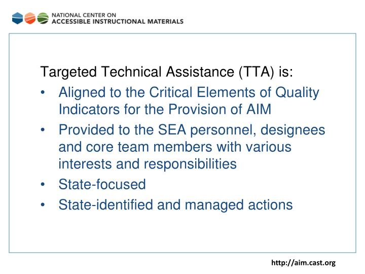 Targeted Technical Assistance (