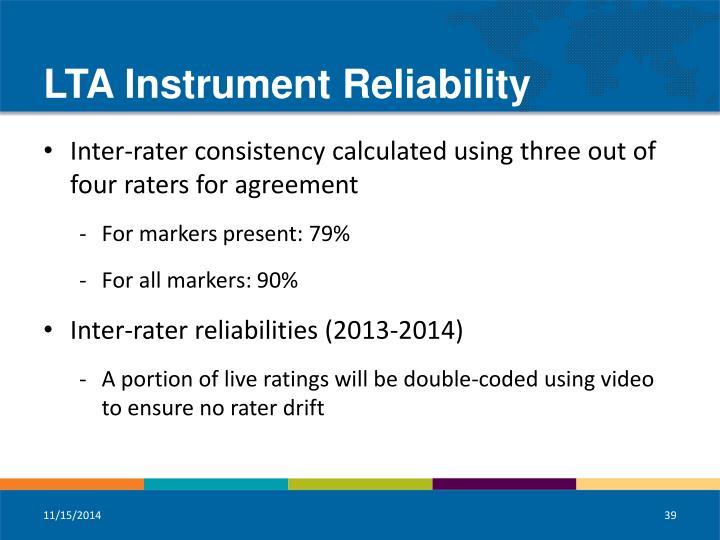 LTA Instrument Reliability