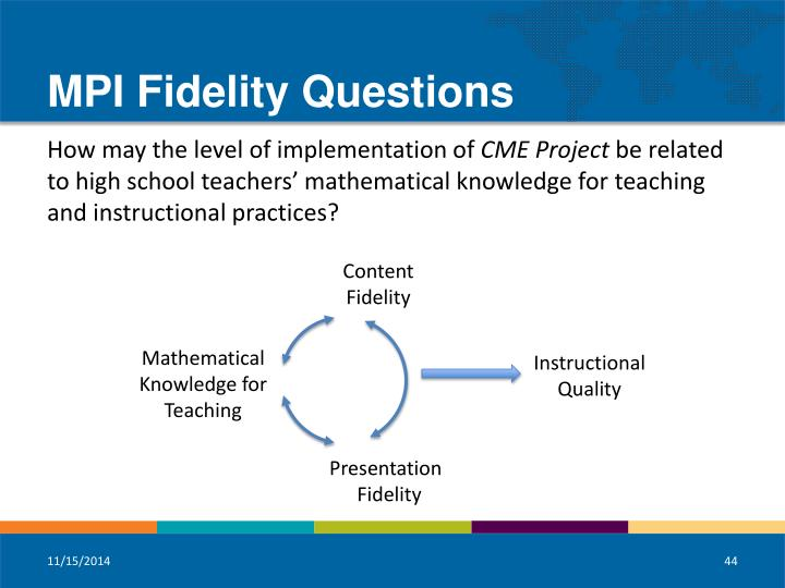MPI Fidelity Questions