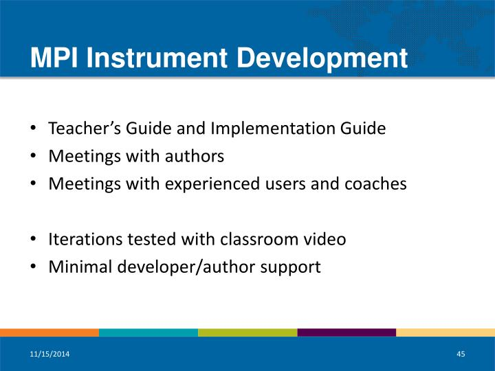 MPI Instrument Development