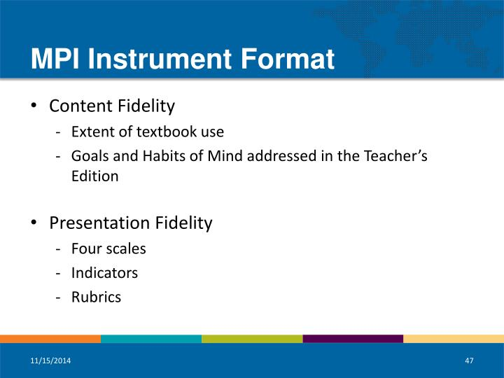 MPI Instrument Format