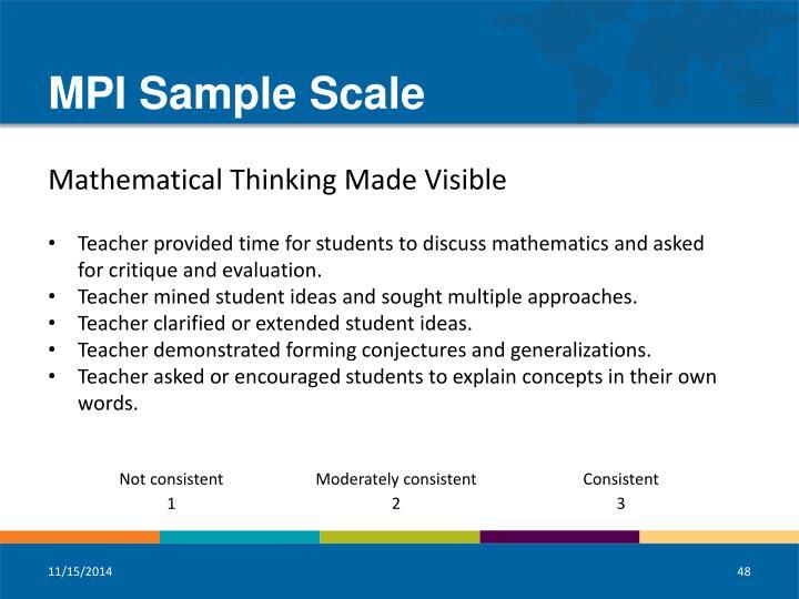 MPI Sample Scale