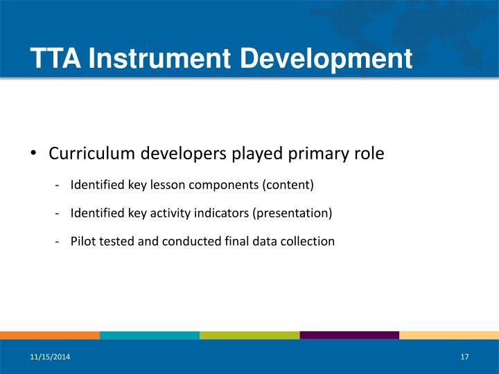 TTA Instrument Development