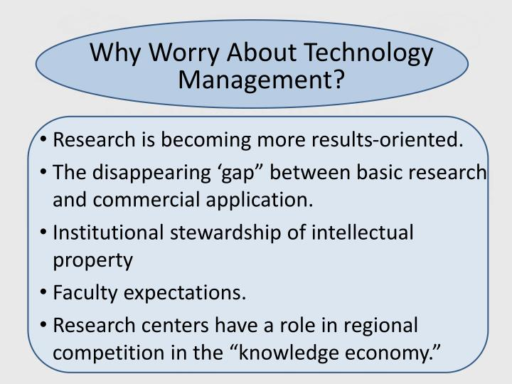 Why Worry About Technology Management?