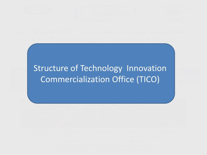 Structure of Technology  Innovation Commercialization Office (TICO)