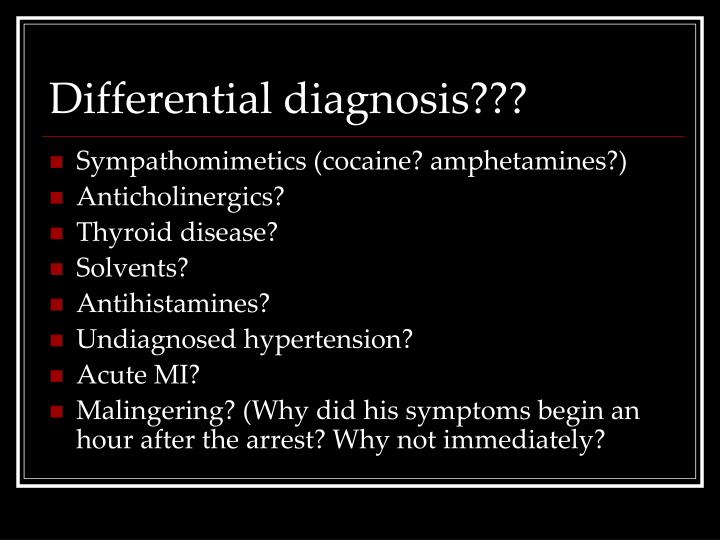 Differential diagnosis???