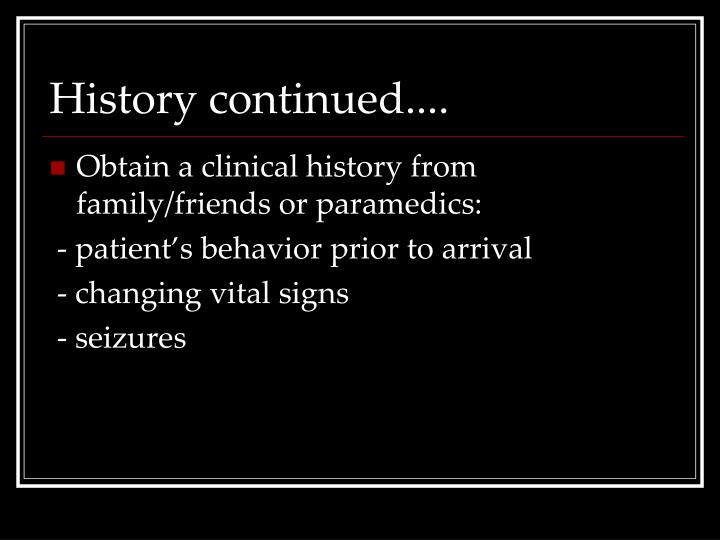 History continued....