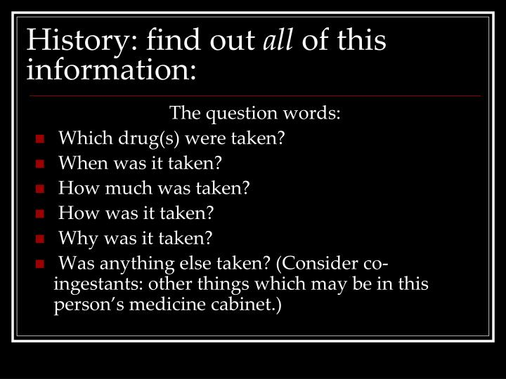 History: find out