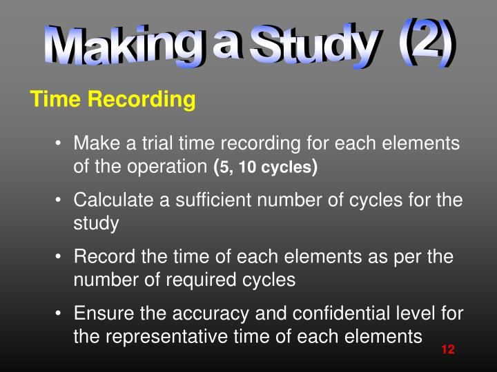 Making a Study  (2)