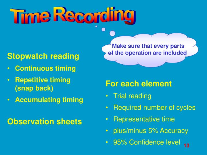 Time Recording