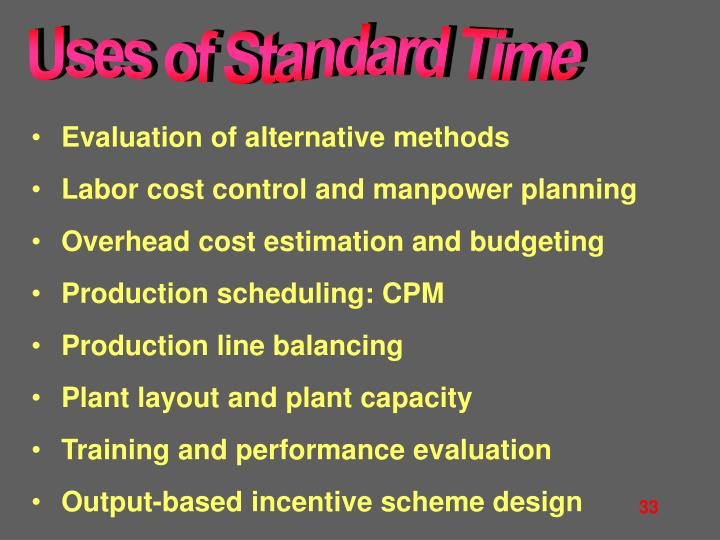 Uses of Standard Time