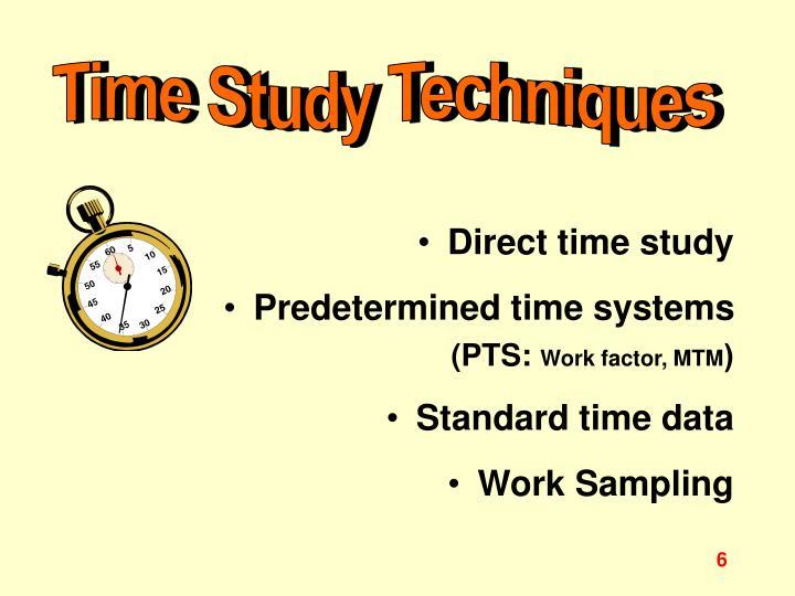 Time Study Techniques