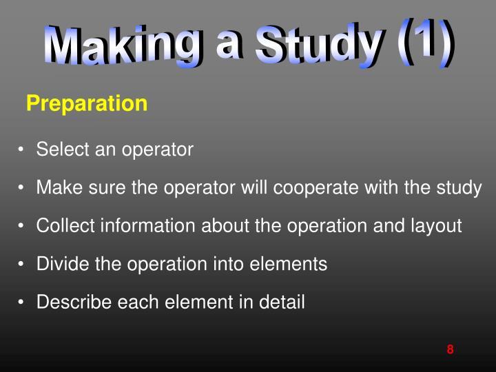 Making a Study (1)
