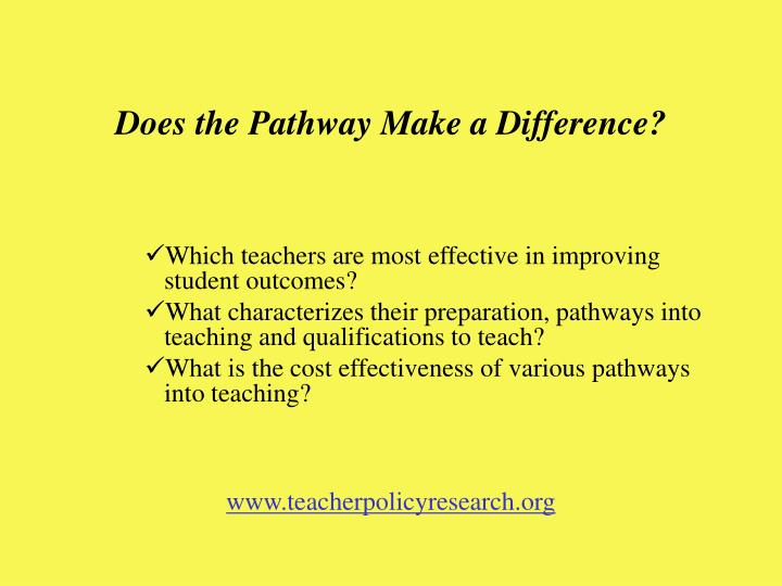 Does the Pathway Make a Difference?