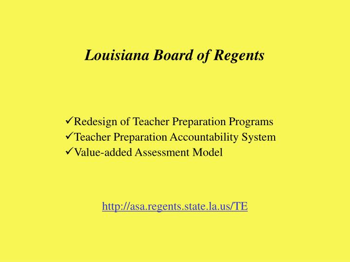 Louisiana Board of Regents