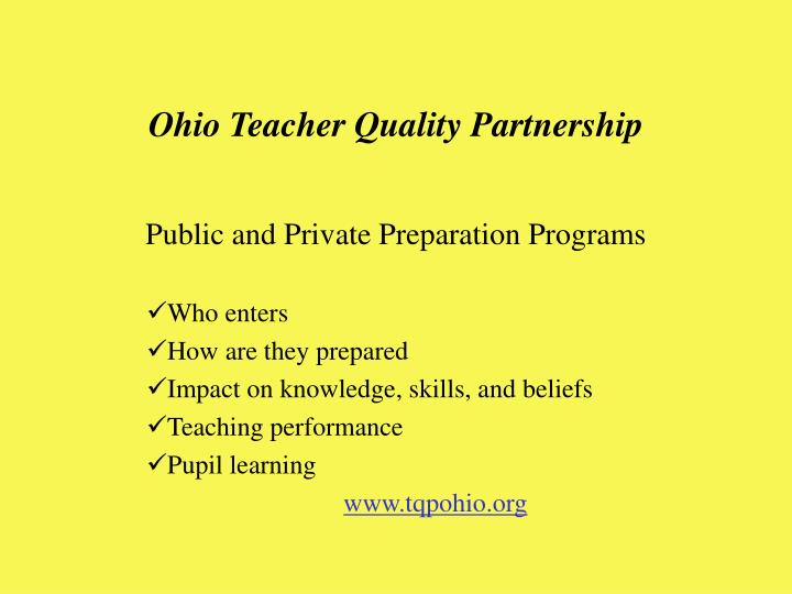 Ohio Teacher Quality Partnership