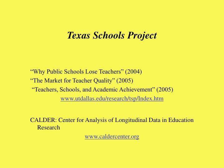Texas Schools Project
