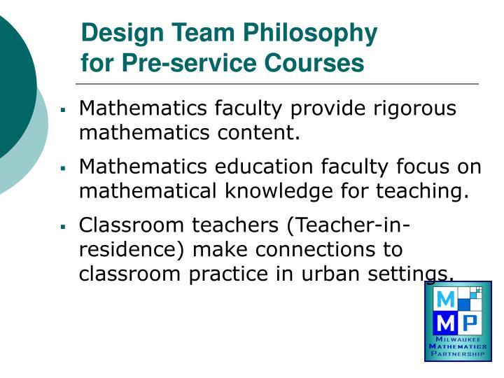 Design Team Philosophy