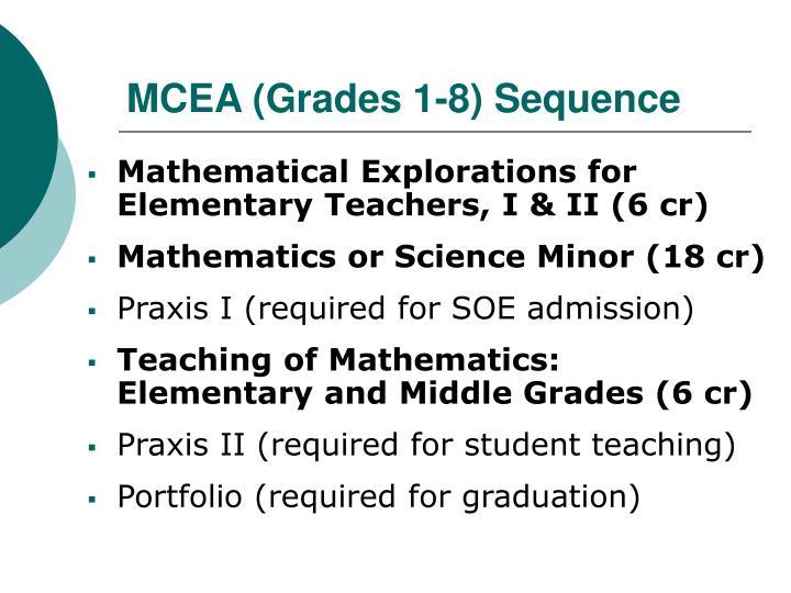 MCEA (Grades 1-8) Sequence