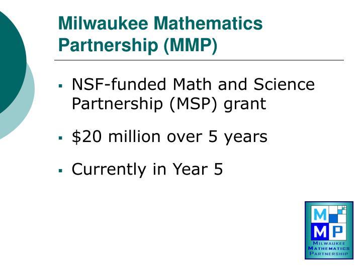Milwaukee Mathematics Partnership (MMP)
