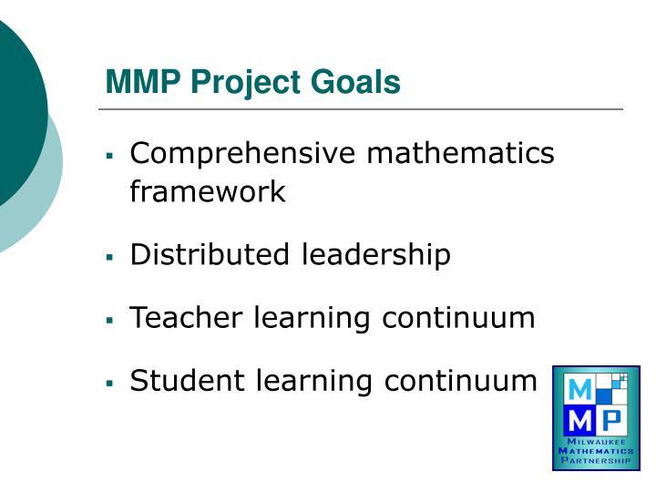 MMP Project Goals