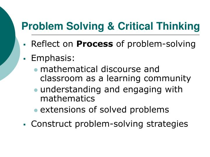 Problem Solving & Critical Thinking