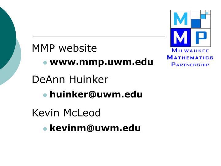 MMP website