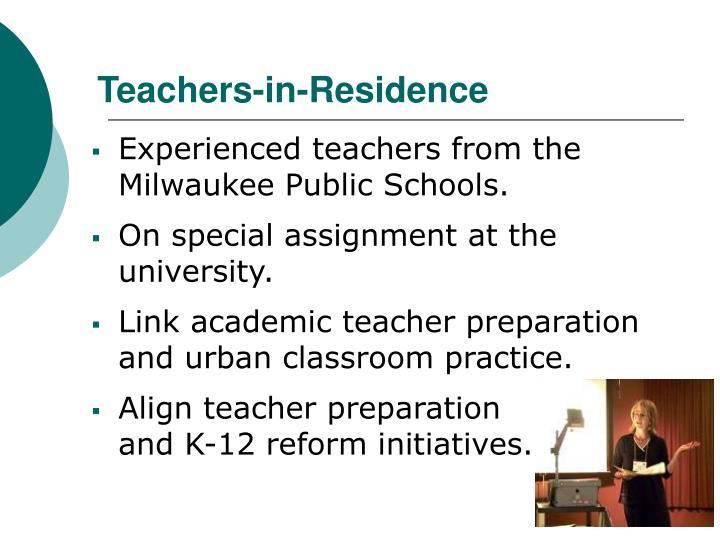 Teachers-in-Residence