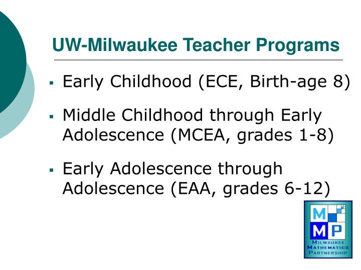 UW-Milwaukee Teacher Programs