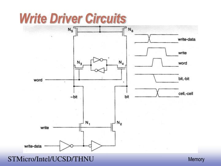 Write Driver Circuits