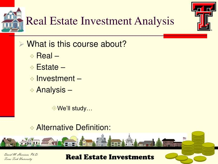Real Estate Investment Analysis Definition  Useful Investments