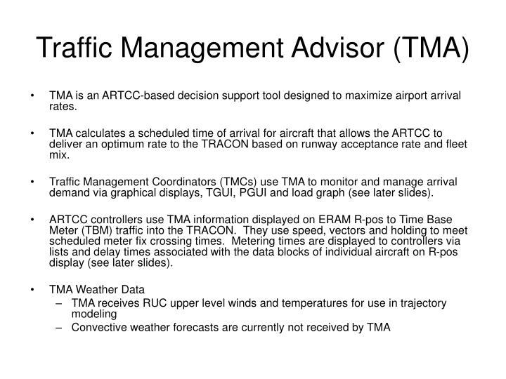 Traffic Management Advisor (TMA)