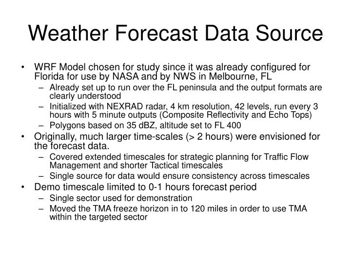 Weather Forecast Data Source