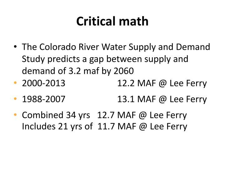 Critical math