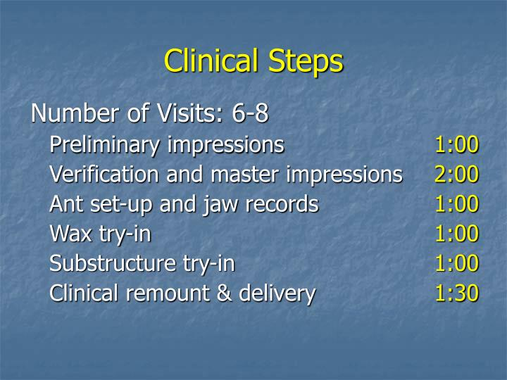 Clinical Steps