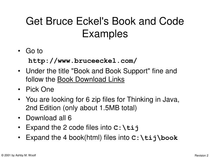 Get Bruce Eckel's Book and Code Examples
