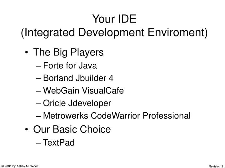 Your IDE