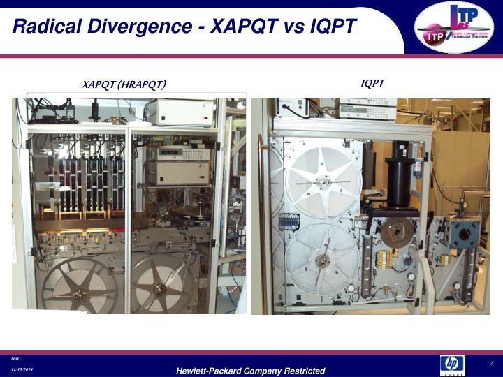 Radical Divergence - XAPQT vs IQPT